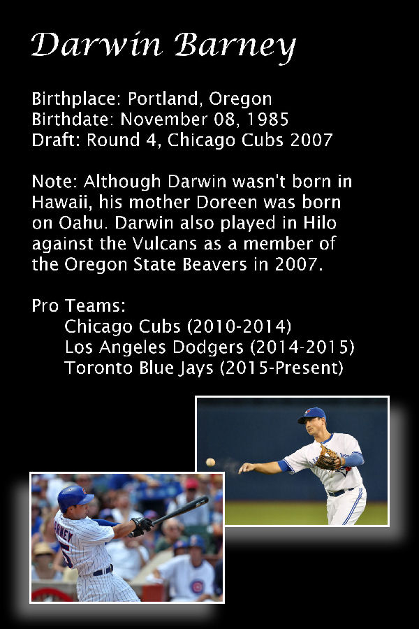 f684fe5ac Player  Darwin Barney. Item Info  Autographed ...